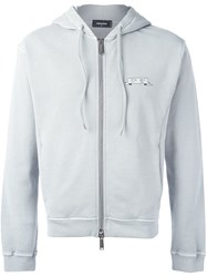 Dsquared2 Zipped Hoodie Grey