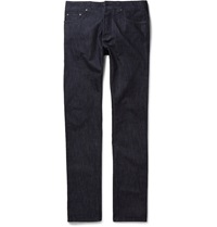 Etro Rinsed Cotton And Cashmere Blend Jeans Blue