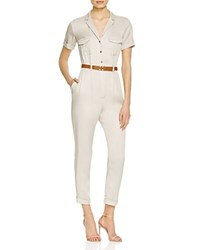 French Connection Kruger Belted Jumpsuit African Stone