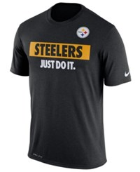 Nike Men's Pittsburgh Steelers Just Do It T Shirt Black