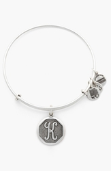 Alex And Ani 'Initial' Adjustable Wire Bangle K Russian Silver