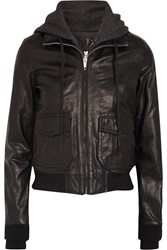 R 13 Jersey Lined Leather Flight Jacket