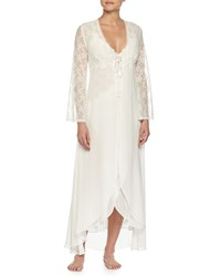 Jonquil Lace Sleeve Long Robe Ivory Women's