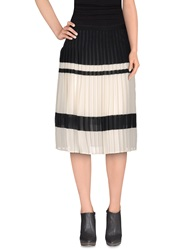 Veronique Branquinho Knee Length Skirts Black