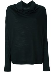 Vivienne Westwood Anglomania Ruffled Neck Longsleeved Blouse Black