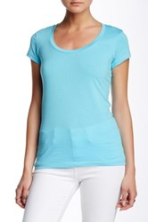 Susina Short Sleeve Scoop Neck Tee Petite Blue