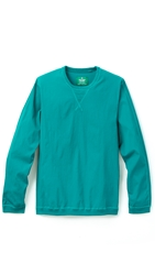 Reigning Champ Sea To Sky Side Zip Pullover Turquoise