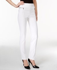 Styleandco. Style And Co. Petite Skinny Leg Pull On Pants Bright White