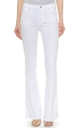 7 For All Mankind High Waisted Vintage Flared Jeans Runway White