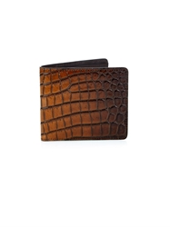 Tomas Maier Crocodile Effect Leather Wallet