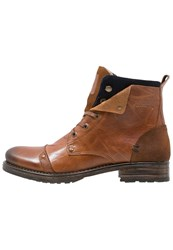 Redskins Yedes Laceup Boots Cognac Marine