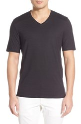 Men's Vince Camuto Pima Cotton V Neck T Shirt Black