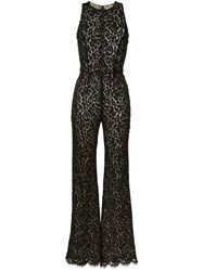 Michael Kors Floral Lace Jumpsuit Black