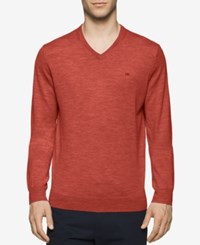 Calvin Klein Men's Merino V Neck Sweater Mangone