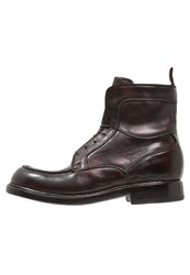 Preventi Laceup Boots Ruggine Brown