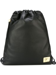 Giuseppe Zanotti Design Drawstring Fastening Backpack Black
