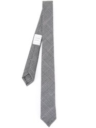 Thom Browne Plaid Tie Black