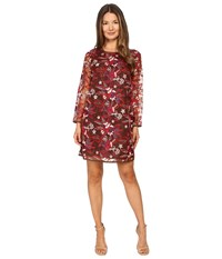Just Cavalli Pansy Embroidered Sheath Dress Chestnut