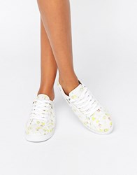 Gola Aster Print Lace Up Trainer White Flower Multi