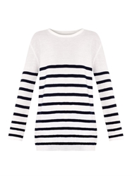 Mih Jeans Slouch Breton Stripe Wool Sweater