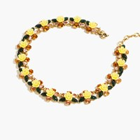 J.Crew Firefly Flower Collar Necklace Multi Color