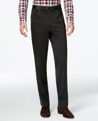 Alfani Red Modern Stretch Flat Front Pants Only At Macy's Black Ice Heather