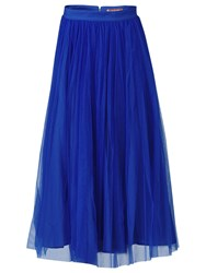 Jolie Moi Tulle Midi Skirt Royal Blue