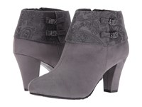 Soft Style Creel Dark Grey Faux Suede Dark Grey Paisley Women's Pull On Boots Gray