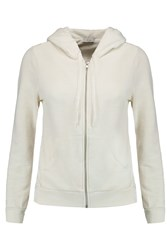 Clu Ruffled Voile And Cotton Blend Jersey Hooded Top White