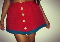 The 'Relax With Me' Crochet Two Tone Skirt By Dreaminginami