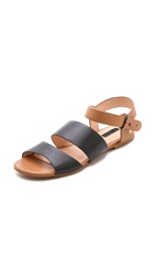 Matiko Ksenya Sandals Light Brown Black