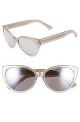 Steven Alan 'Agnes' 55Mm Cat Eye Sunglasses Pewter Metallic