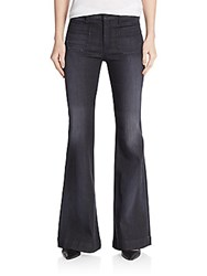 Hudson High Waist Flare Leg Jeans Black Bird