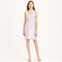 J.Crew Petite Liza Dress In Slub Silk