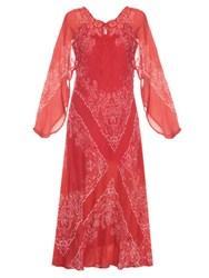Mes Demoiselles Bonita Bandana Print Maxi Dress Red