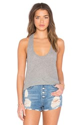 James Perse High Hauge Jersey Tank Gray
