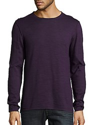 John Varvatos Solid Crewneck Sweater Flagstone