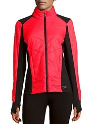 Calvin Klein Two Tone Performance Jacket Psycho Red