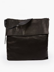 Rick Owens Black Leather Satchel