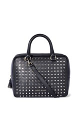 Karen Millen Leather Stud Bowling Bag Black