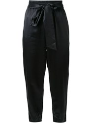 Alice Olivia Alice Olivia Tie Waist Tapered Trousers Black
