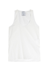 Anthony Vaccarello Cotton Blend Tank
