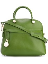 Furla Structured Small Tote Green