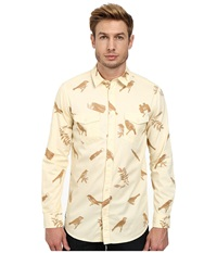 Wesc Gambrill Aop Long Sleeve Shirt Pearl White Men's Long Sleeve Button Up