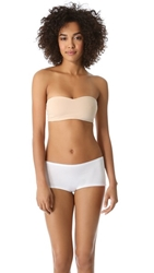 Top Secret Peek A Boo Bandeau Bra Nude White