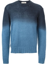 Marni Gradient Effect Sweater Blue