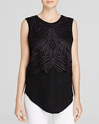 Generation Love Tank Lace Overlay Black