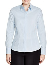Basler Plus Button Down Blouse Blue