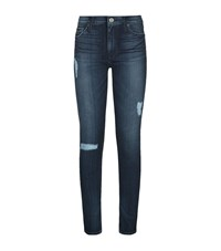 Hudson Nico Super Skinny Distressed Jeans Female Blue