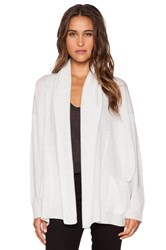 Inhabit Cashmere Cardigan Light Gray